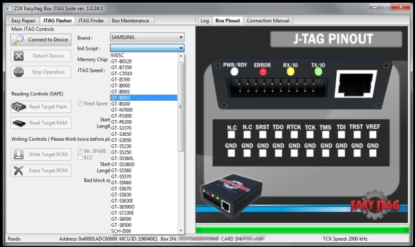 Easy Jtag Activation + Z3X Easy Jtag Box